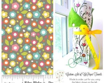 Unpaper Towels   Snapping Reusable Paper Towels   Eco Friendly Cloth Paper Towels    Alphabet Soup Flours   Riley Blake   Half Set of 6