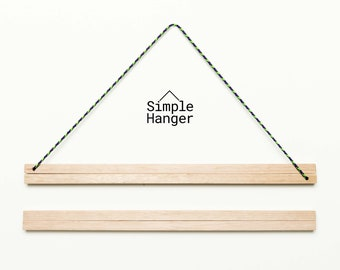 Simple Hanger S3 (300mm* wide) —A lightweight, low profile, magnetic poster and textile hanger.