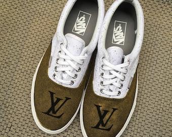 Custom Painted Louis Vuitton LV Luxury Vans Sneakers