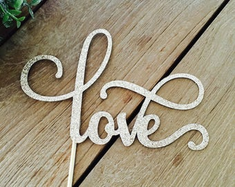 Love Cake Topper, Engagement Party Cake Topper, We're Engaged,Bride To Be, Engagement Party Decorations.