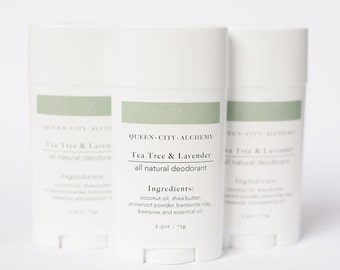 Tea Tree and Lavender Organic All Natural Deodorant