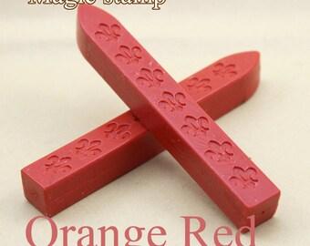 2pcs Orange Red Sealing Wax Sticks for Wax Seal Stamp