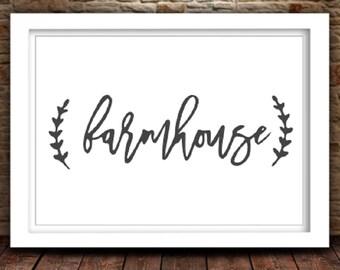 Farmhouse SVG   Farmhouse Cut File   Silhouette Files   Cricut Files   SVG Cut Files   PNG Files