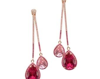 Lara Heems Ruby Tear Drop Earrings