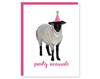 Party Animal Folded Card
