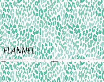 Mint Green Flannel Fabric, Camelot 2150041B-4 Mint Green  and White Flannel Quilt Fabric, Abstract Flannel, Cotton Flannel Yardage