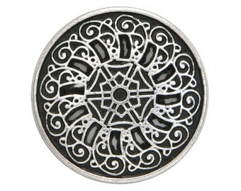 30 Byzantine 13/16 inch ( 20 mm ) Metal Buttons Silver Color