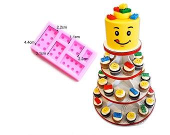 Lego bricks silicone mold