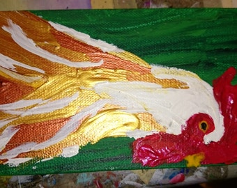 Chicken Original Acrylic Painting