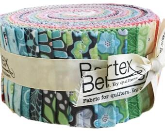 "Amanda Murphy Meadow Dance Pinwheel 2.5"" Precut Fabric Quilting Cotton Strips Jelly Roll Benartex"