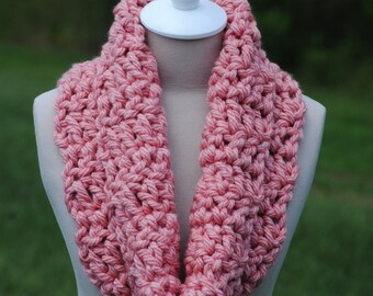 Antique Rose Thick Cowl, Thick Cowl, Pink Cowl, Rose Colored Cowl, Warm Cowl