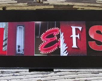 Kansas City Chiefs! Football team sign, gridiron, team sport, photo letter art, alphabet