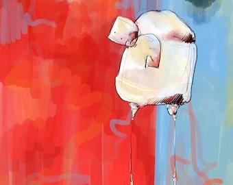 Fine Art Painting- Meander (Digital painting)
