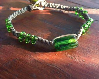 Green Goddess beaded bracelet
