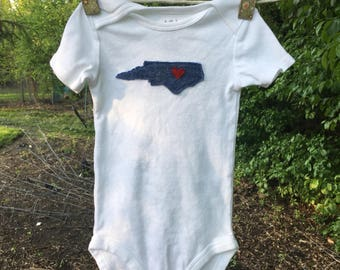 North carolina baby etsy north carolina state onesie baby gift state negle Image collections