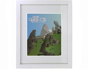 Star Wars Ahch-To Travel Print