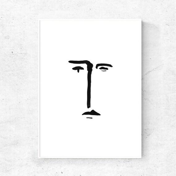 Minimal art print zwarte lijn afdrukken sketch art for Minimal art kunst