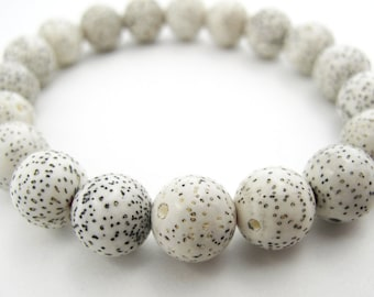 White Lotus Seed Bracelet