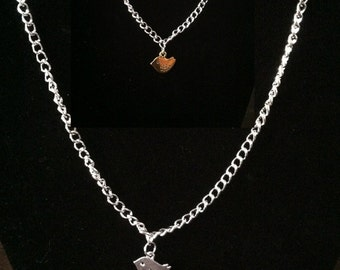 Mother Daughter Bird Necklace, charm Necklace set, Mommy and Baby Jewelry