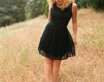 MIDNIGHT Rad Iridescent Blue 90's Mini Dress