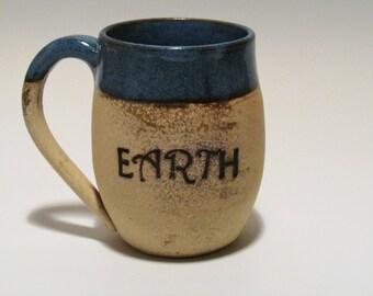 Ceramic Mug -Coffee Mug - Ceramic Coffee Mug- Bare Clay Mug- Quote Mug - Handmade Mug- Wheel Thrown Mug -Stoneware Mug -Pottery Mug- Mug-Cup