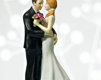 Main Squeeze Cheeky Couple Funny Wedding Cake Topper Hand Painted Porcelain Jenuine Crafts
