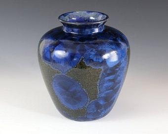 "Classic Vase - Crystalline Glaze - ""Cornflower-blue"""
