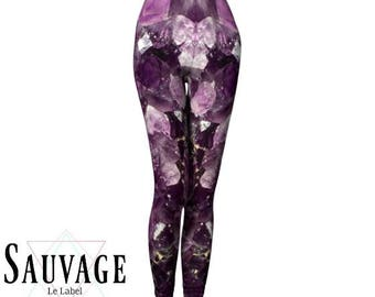 Amethyst Leggings for the wild ones • yoga class and sunday brunch approved • handmade in Montreal - XS to XL
