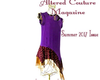 XS-M Jewel Toned Purple Silk & Amber Dress/Tunic gypsy clothing lagenlook teen dress handmade hippie boho chic wearable art