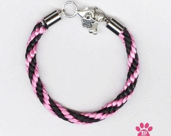 Custom Dog Jewelry , Sterling Silver Custom Dog Jewelry, Dog Inspired Bracelet, Braided Dog  Bracelet,    Dog Inspirational Bracelets