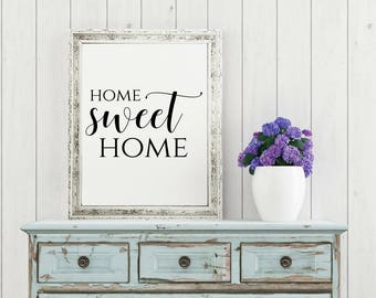 Home Sweet Home Sign, Home Decor Wall Art, Housewarming Gift, Rustic  Prints, Rustic Home Decor, Wall Art Printables, Printable Wall Art