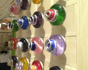 Colorful Glass Cabinet Knobs/Kitchen Cabinet Knobs/Furniture  Handles/Bathroom Cabinet Knobs/Bi Fold Doors/Fused Glass Knobs/Funktini Home