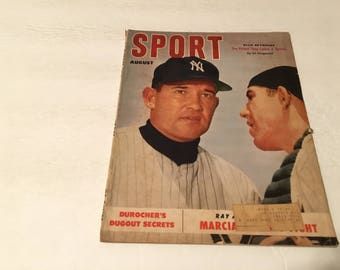 august 1952 sport magazine allie reynolds cover