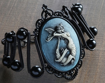 Mermaid bracelet, Jewerly - Bracelet - Mermaid cameo