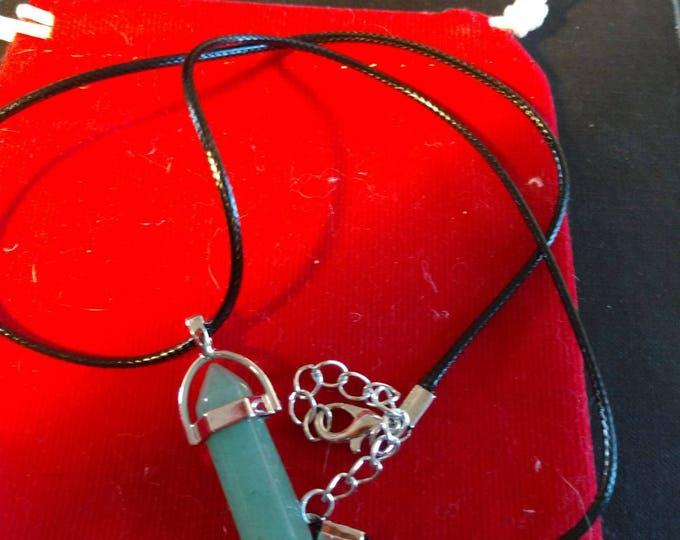 Reiki Crystal Hexagonal Necklace - Aventurine