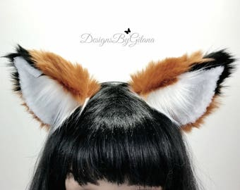 NEW! Realistic Fox Ears Headband-Fox Ears-Fox Ears Headband-Cat Ears-Fox Costume- Furries-Cosplay-Halloween-Fluffy Ears-Birthday-RCEH-0003