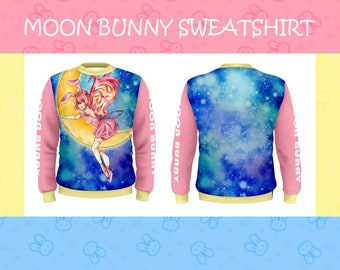 Moon Bunny Sweatshirt + Free print!