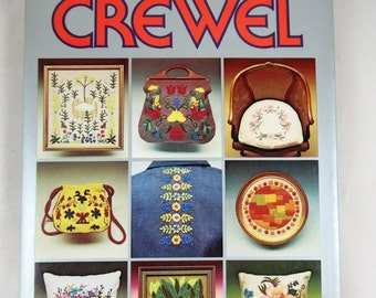 LAST CHANCE - REDUCED New World of Crewel Book by Lisbeth Perrone with Patterns 1975