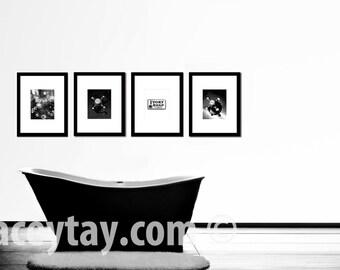 Superbe SALE, Black U0026 White Bathroom Wall Art, Water Faucet Art, Powder Room Art,  Retro, Bathroom Prints, Set Of 4 Prints