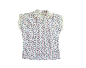 Floral & Frill Top