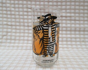 Vintage McDonald's Hamburglar, 1976 Drinking Glass, McDonald's Promotional Item, Collectible