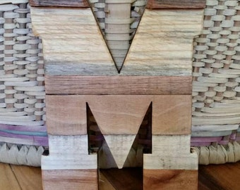 """Large wooden letters,Rustic Home Decor, Pallet Letters, reclaimed wood, Sealed, Rustic Wedding, 16"""" x 12"""", nursery  letters, 16"""" letter"""
