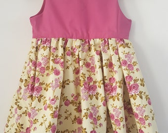 Girls Party Dress, Occasion Dress, Pretty Dress, Vintage, Floral
