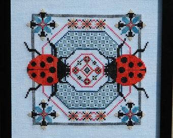 Dance of the Ladybugs PDF Cross Stitch