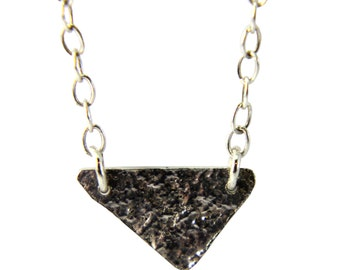 Delicate reticulated triangle necklace
