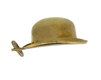 Gold Hat Charm