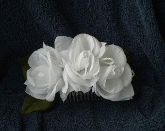 Bridal Roses Hair Comb