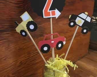 Cars & Trucks Centerpiece