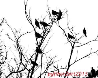 Thermofax Birds in a Tree Screen