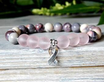 Survivor Bracelet, Survivor Jewelry, Pink Bracelet, Awareness Bracelet, Breast Cancer Survivor, Survivor Gift, Awareness Jewelry